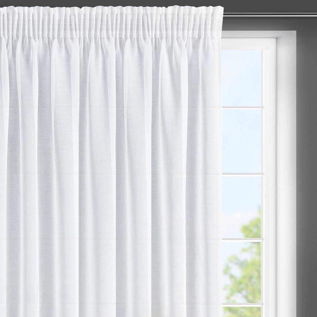 Dekorační krátká záclona s řasící páskou LENKA II. bílá 350x150 cm MyBestHome