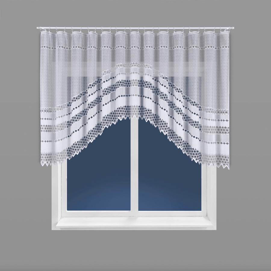 Dekorační oblouková krátká záclona FILOMENA bílá 350x140 cm MyBestHome