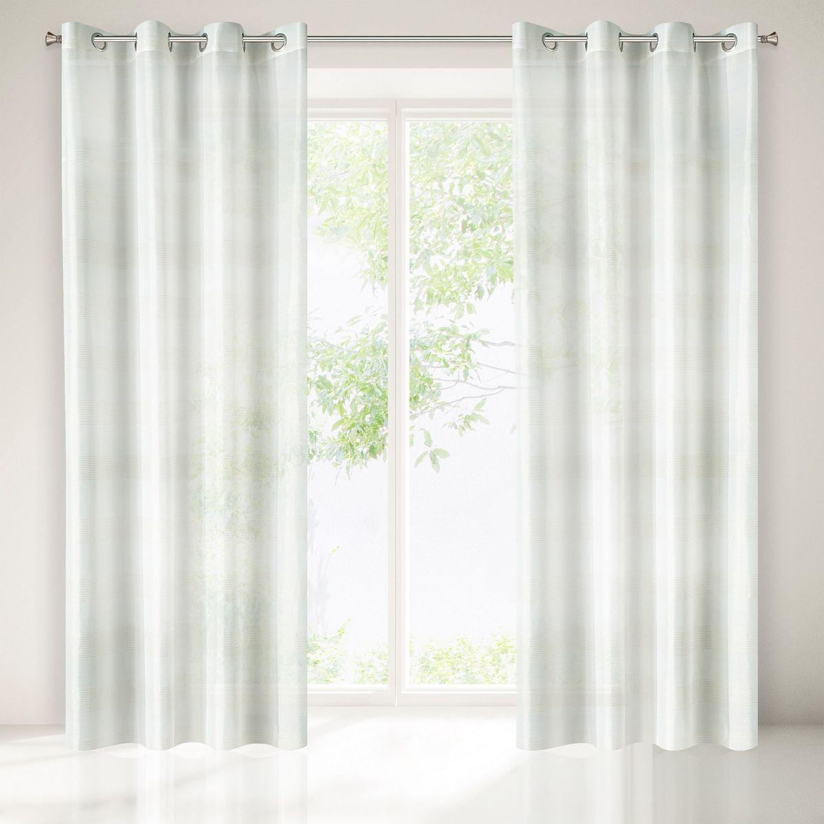 Dekorační vzorovaná záclona s kroužky NEL bílá/zlatá 140x250 cm (cena za 1 kus) MyBestHome