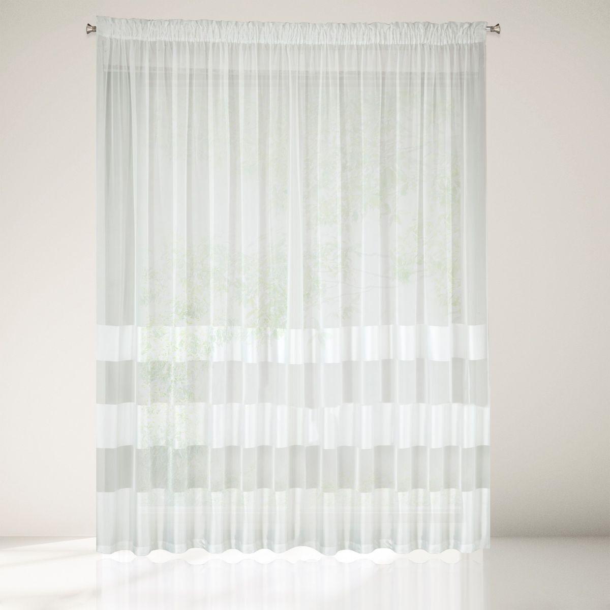 Dekorační vzorovaná záclona na řasící pásku PRIME jemná krémová 350x250 cm MyBestHome