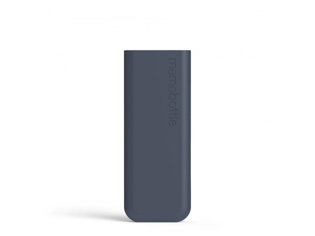 Silikonový obal na láhev na vodu Memobottle Slim Silicone Sleeve - Midnight Blue 450 ml