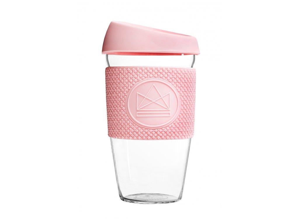 Skleněný hrnek Neon Kactus Glass Cup Pink Flamingo 450 ml