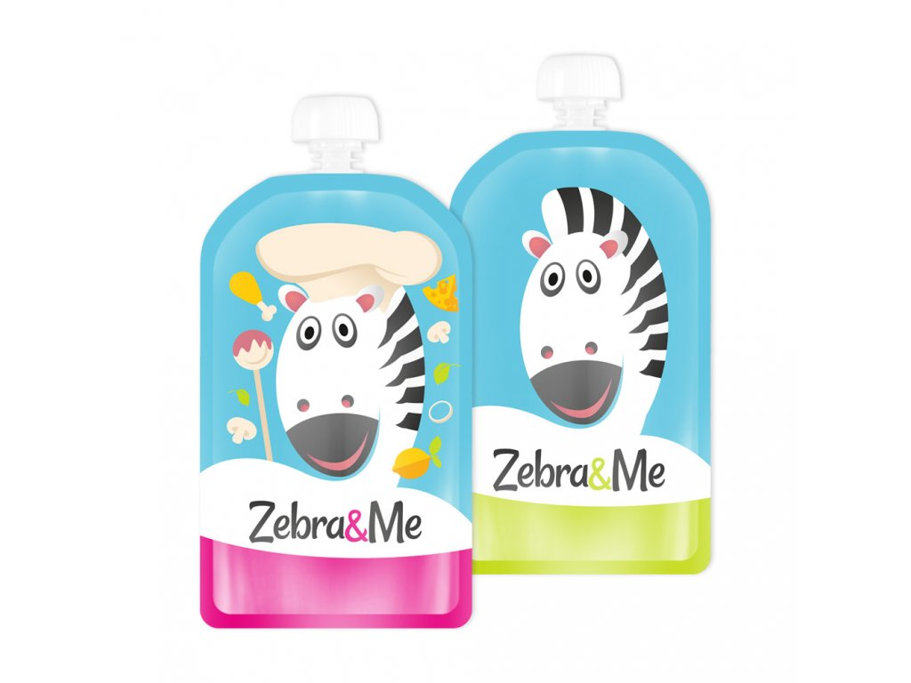 Zebra&Me kapsicky 2ks kuchar+zebra
