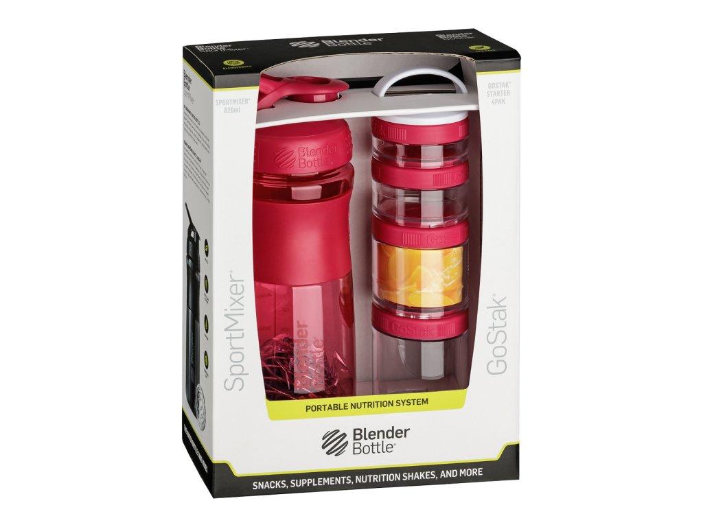 470 2 blenderbottle combo pak sportmixer shaker und gostak starter 4pak pink 760 ml