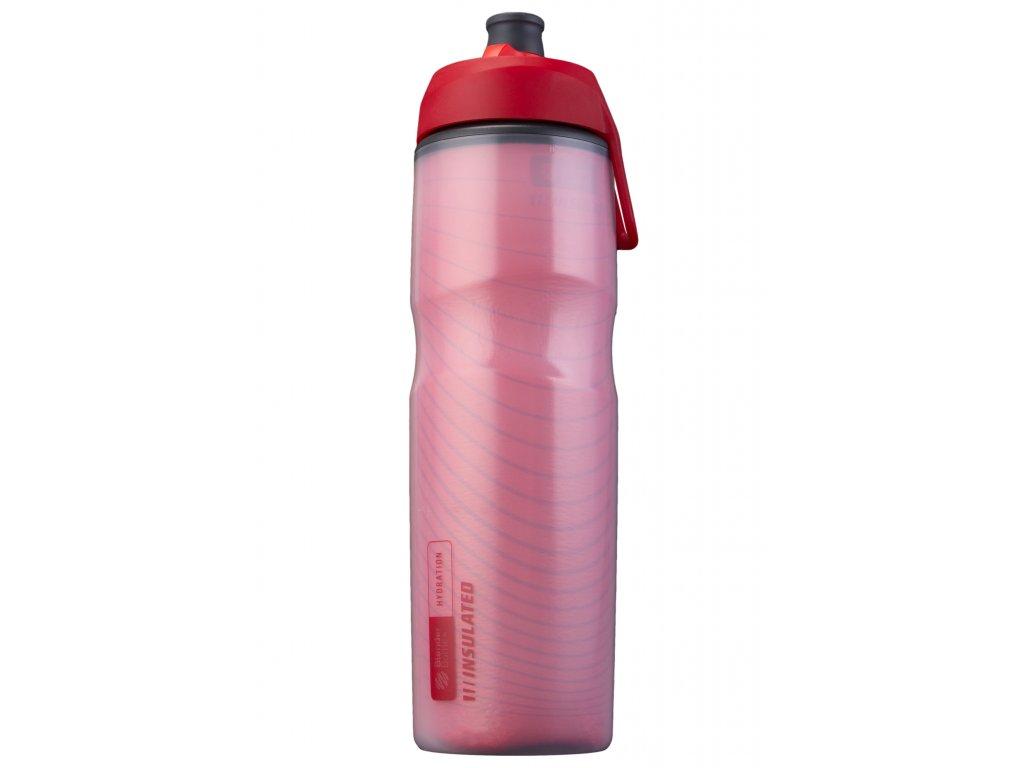 Láhev na vodu BlenderBottle Hallex insulated Red 710 ml
