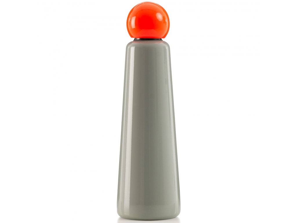 Termo láhev LUND LONDON Skittle Bottle Jumbo 750ml Light Grey & Coral
