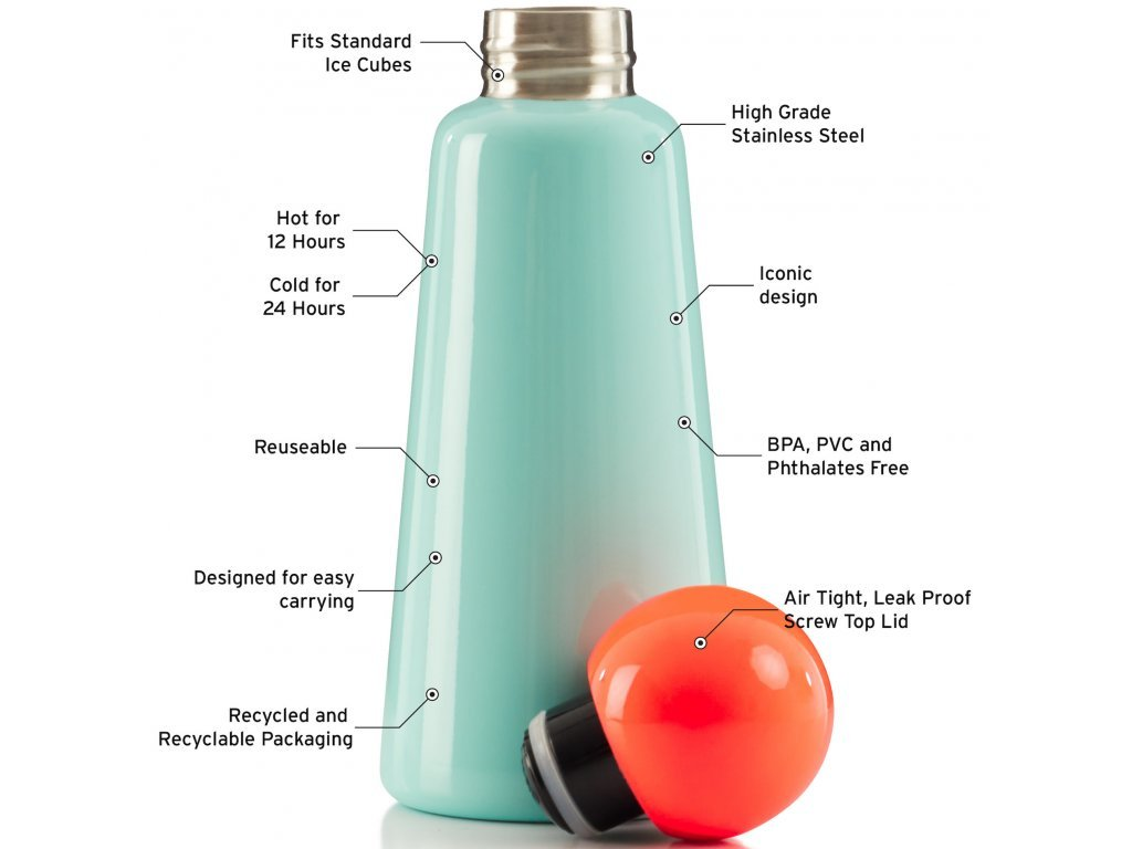 Termo láhev LUND LONDON Skittle Bottle Original 500ml - Mint & Coral