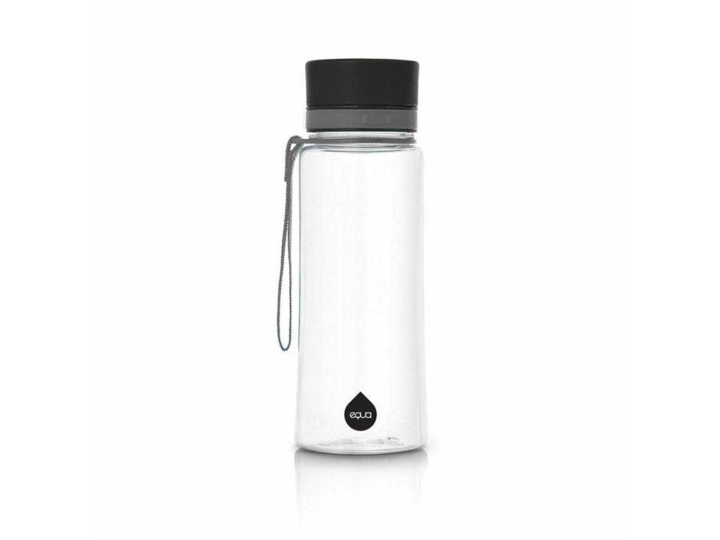 Plastová láhev do školy EQUA - Plain Black 600 ml