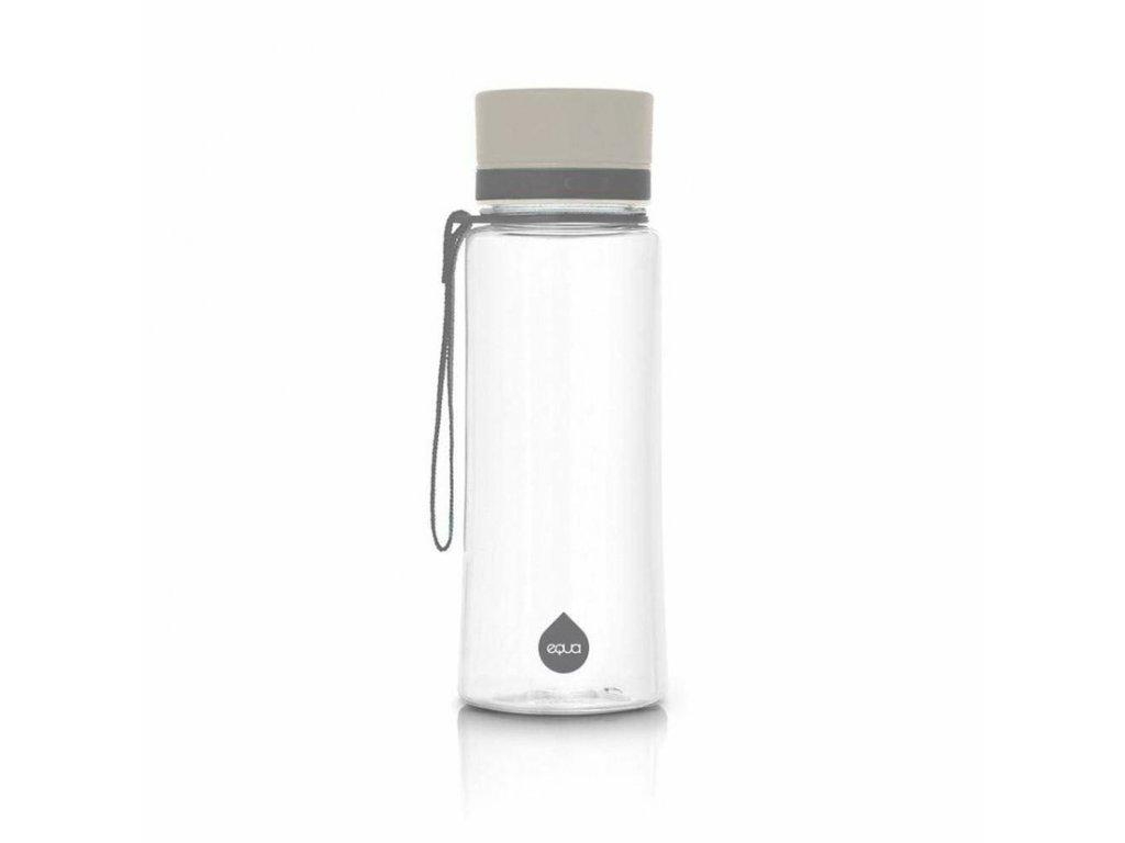 Plastová láhev do školy EQUA - Plain Grey 600 ml