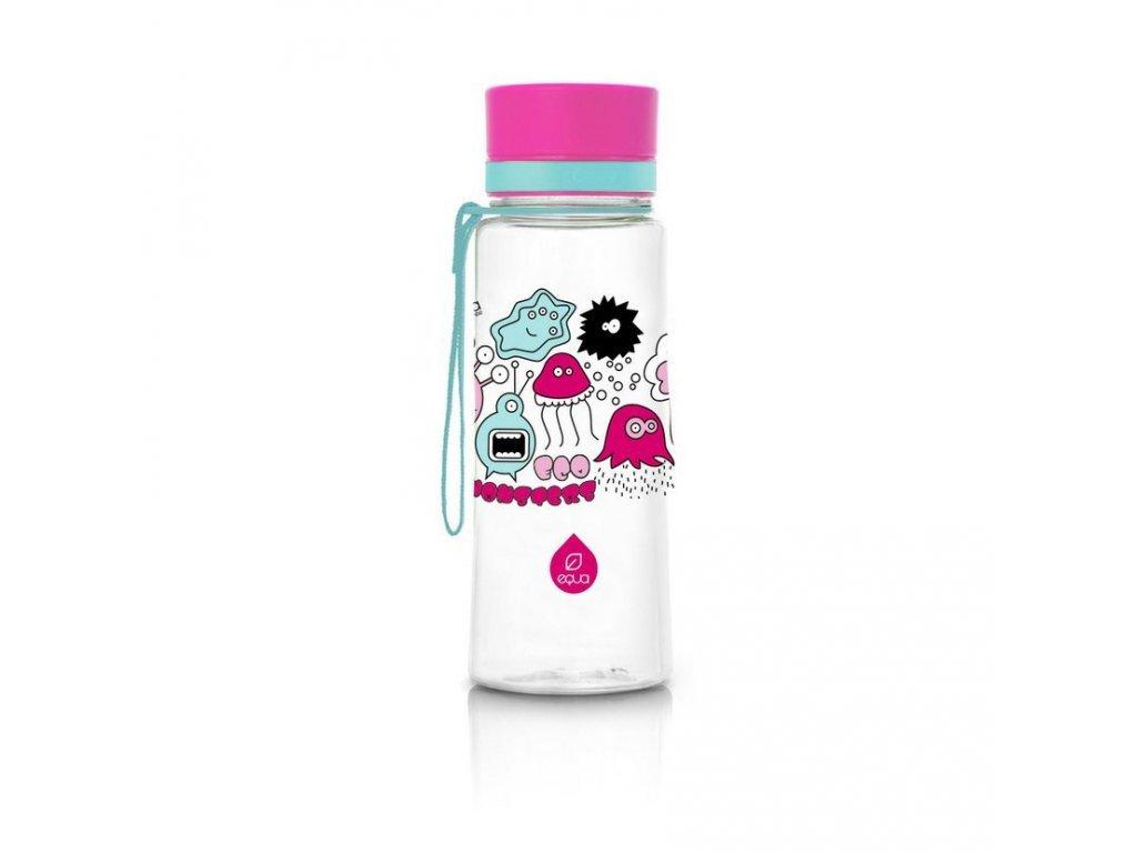 Plastová láhev do školy EQUA - Pink Monsters New 600 ml