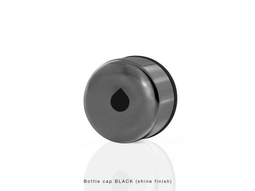Equa Metallic Black - víčko na láhev