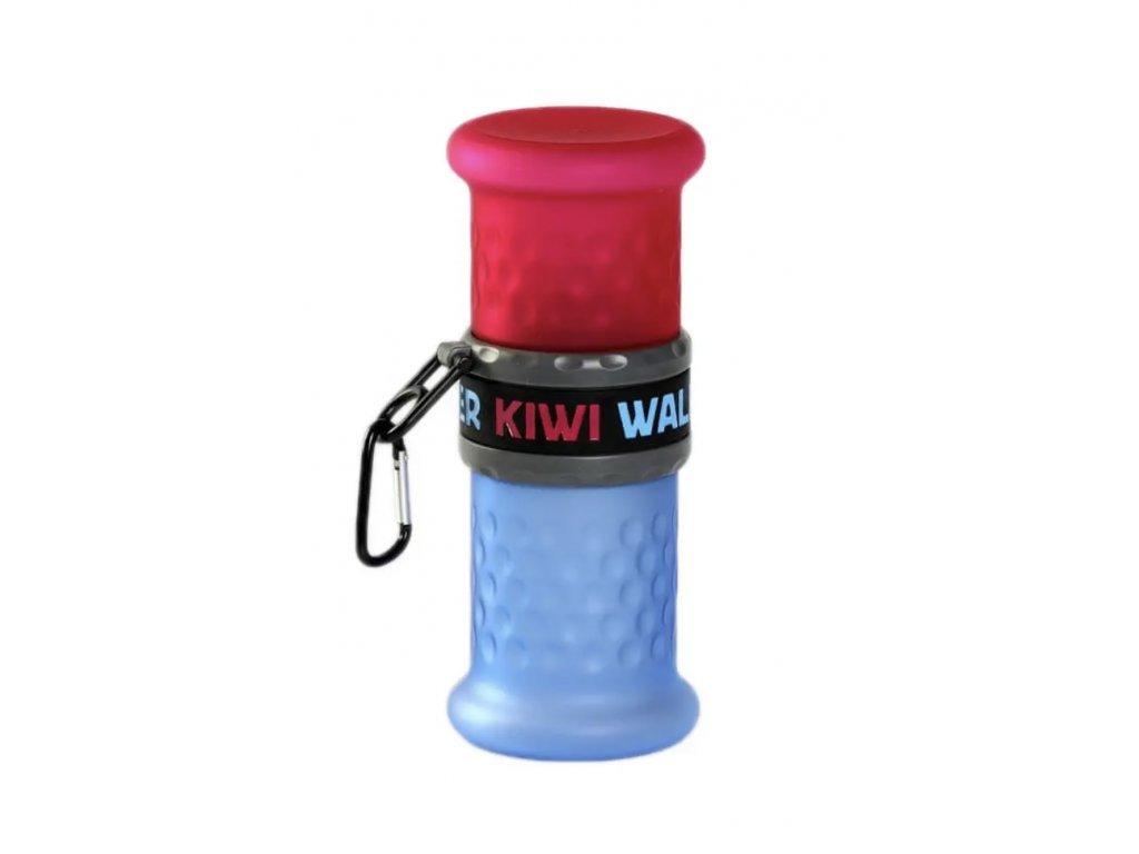 Kiwi Walker Cestovní láhev 2in1, růžovo-modrá, 750 ml + 500 ml