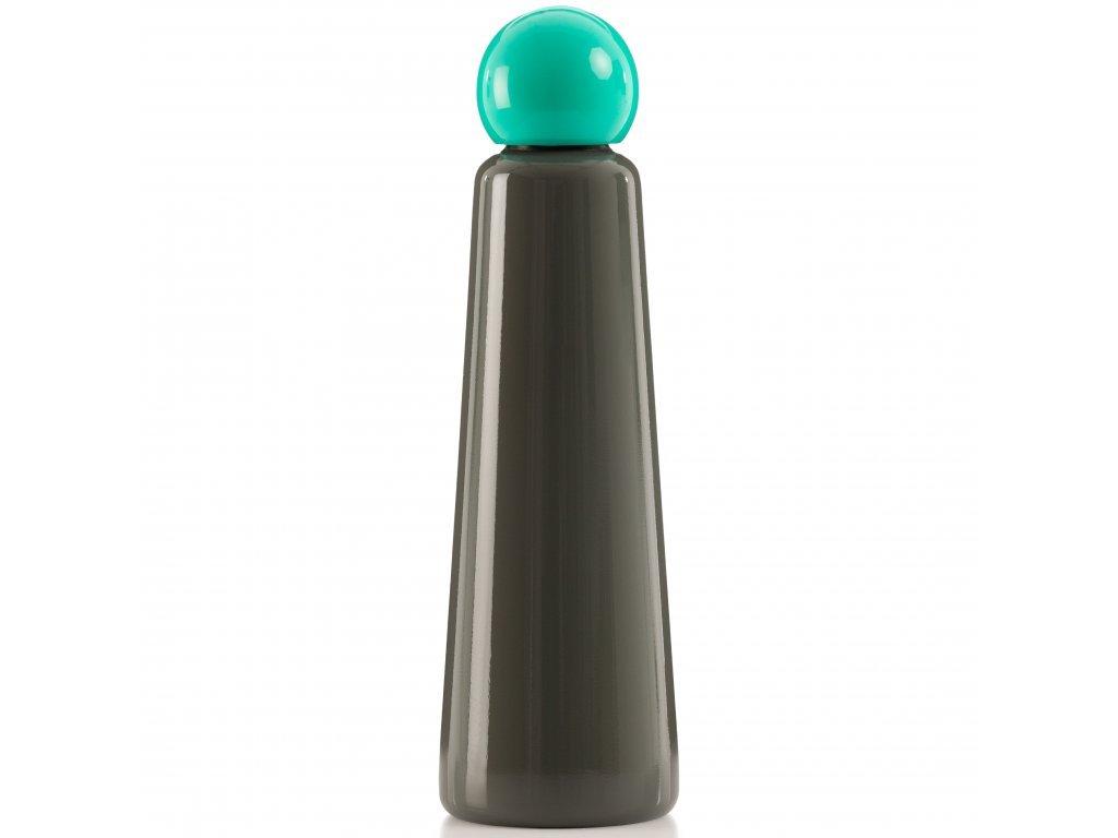 Termo láhev LUND LONDON Skittle Bottle Jumbo 750ml Dark Grey and Turquoise
