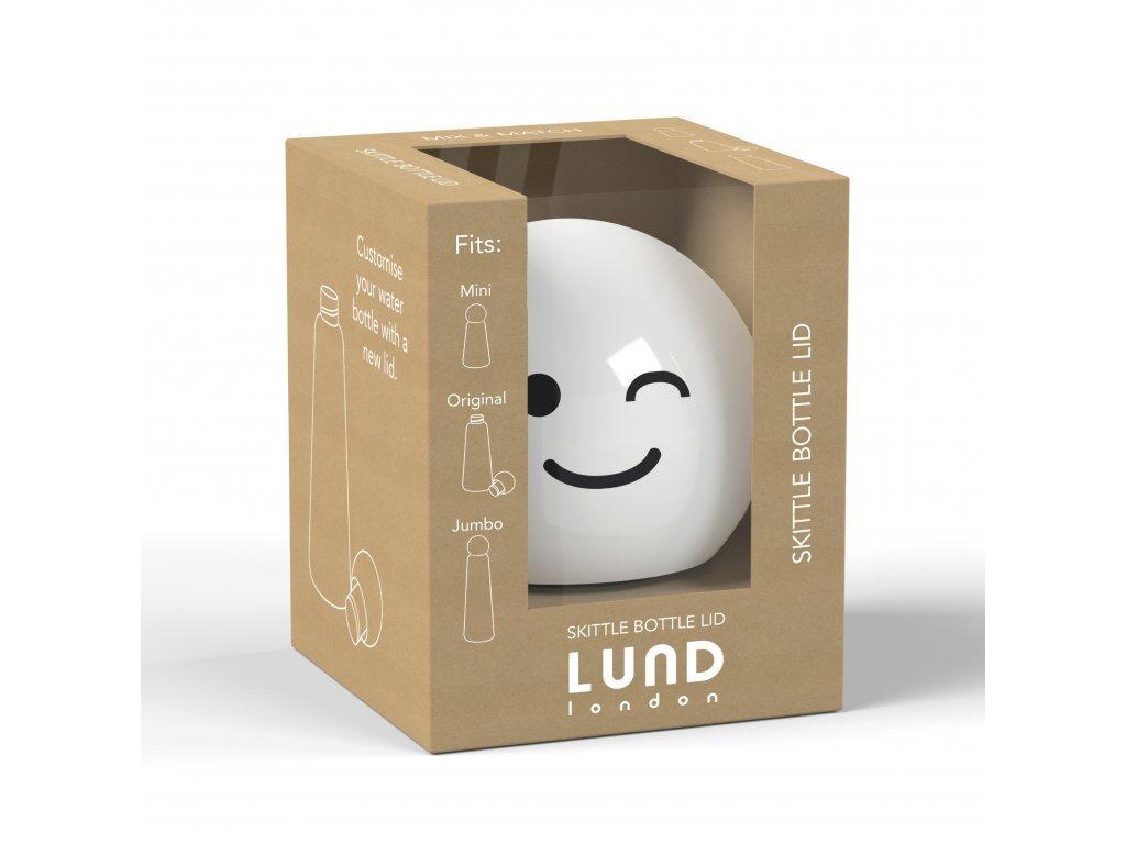 LUND LONDON Skittle Bottle Lid - White Wink