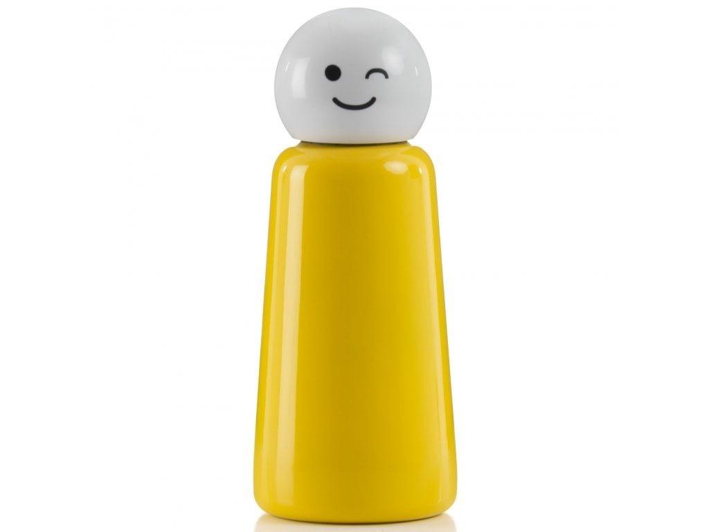 LUND LONDON Skittle Bottle Mini 300ml - Yellow & White Wink