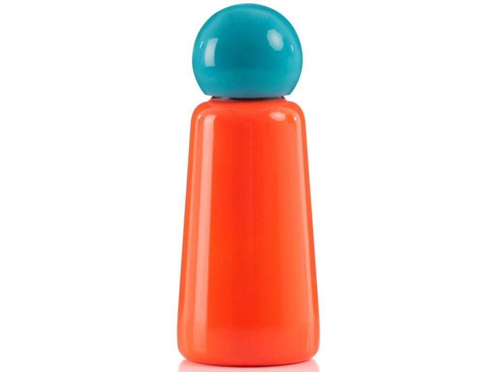 LUND LONDON Skittle Bottle Mini 300ml Coral and Sky Blue