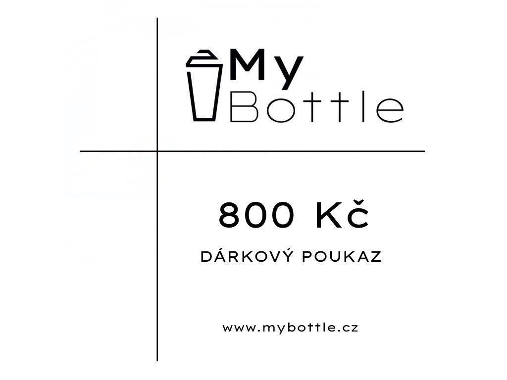 MyBottle dárkový poukaz - 800 Kč