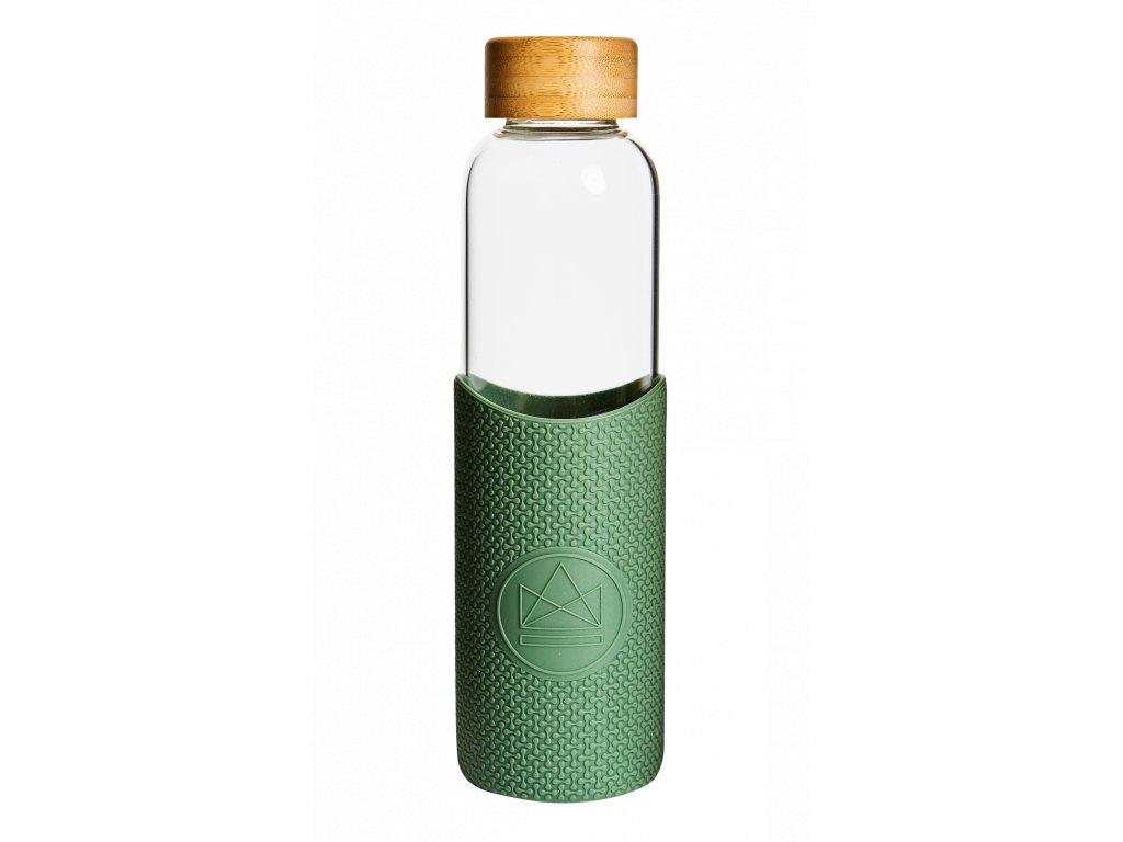 Skleněná láhev na vodu Neon Kactus Glass Water Bottle Happy Camper 550 ml