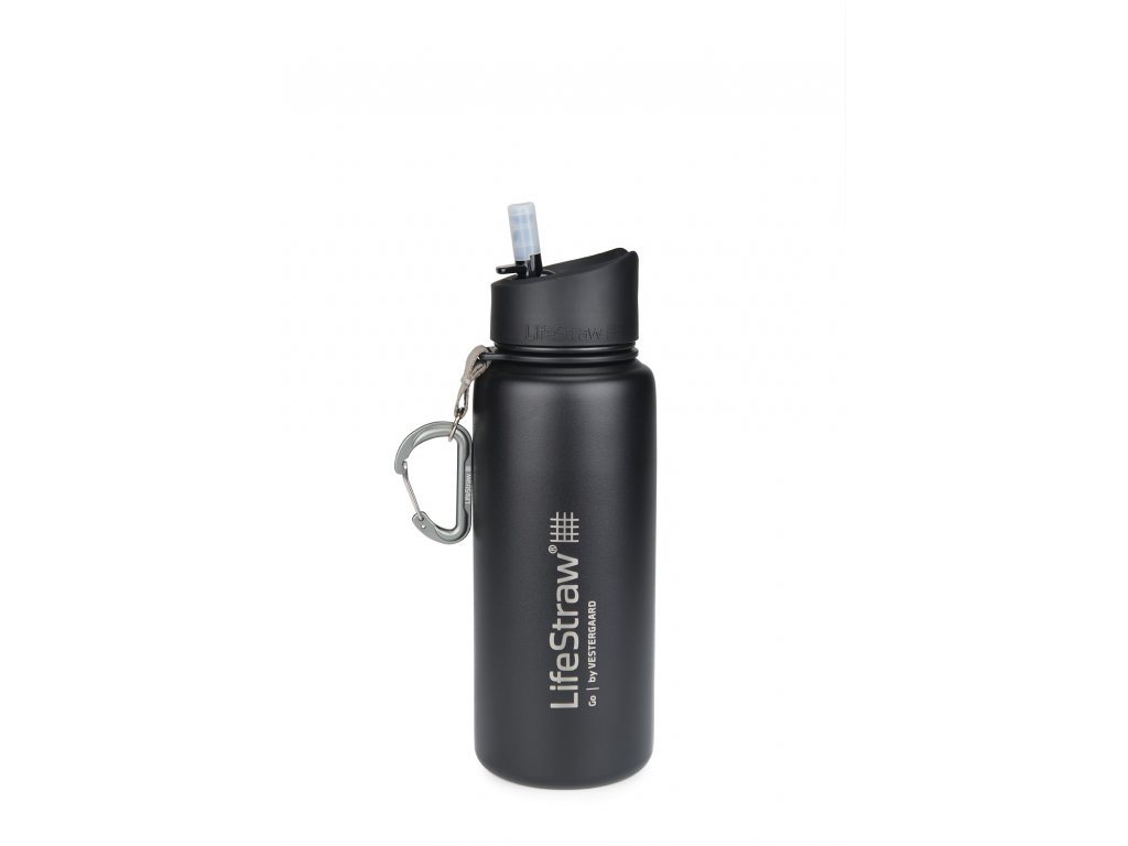 LifeStraw Go stainless steel black front
