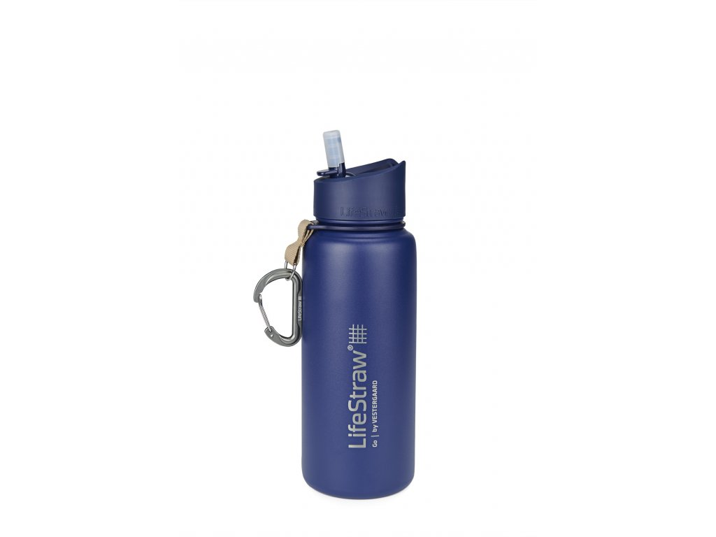 LifeStraw Go stainless steel blue front