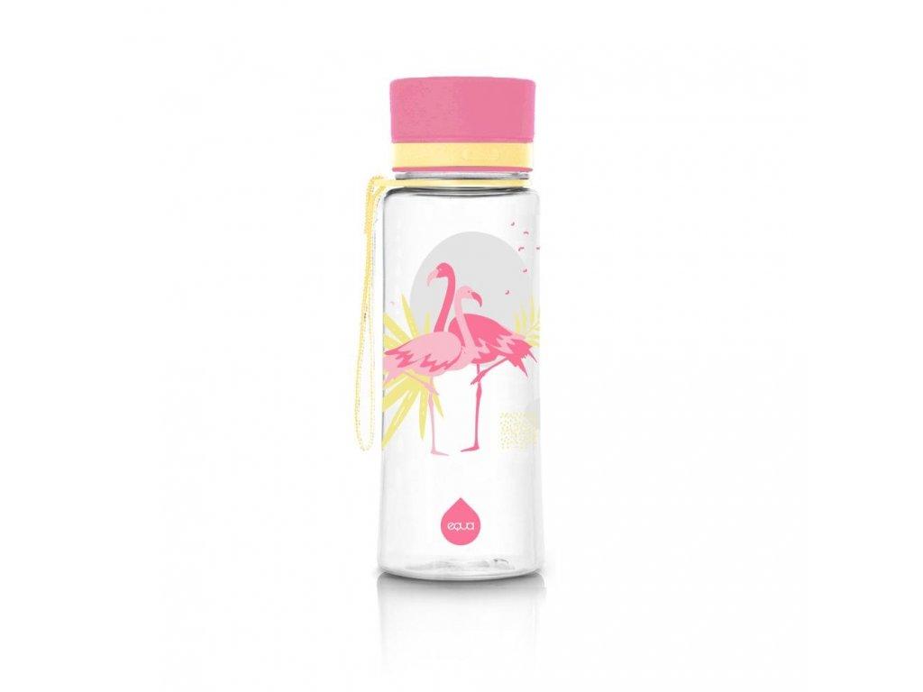 Plastová láhev do školy EQUA Flamingo 600 ml