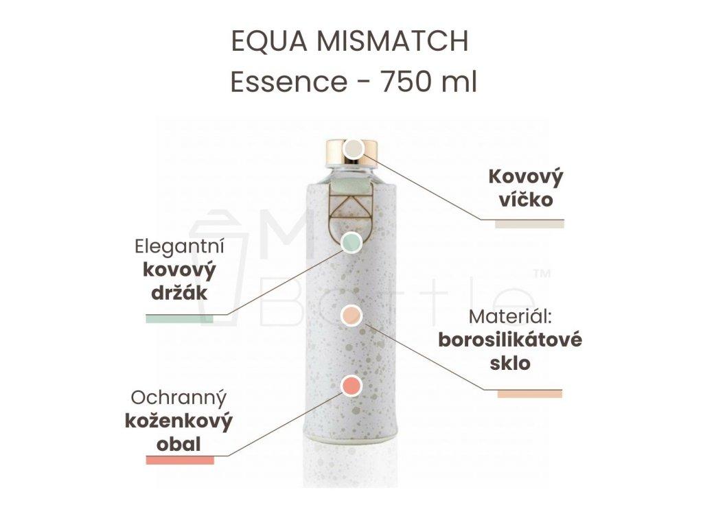 Skleněná láhev EQUA MISMATCH - Essence 750 ml