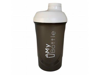Šejkr MyBottle Black - White 600 ml