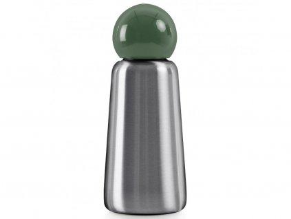 Termo láhev do školy LUND LONDON Skittle Adventure Bottle Mini 300ml - Stainless Steel & Khaki