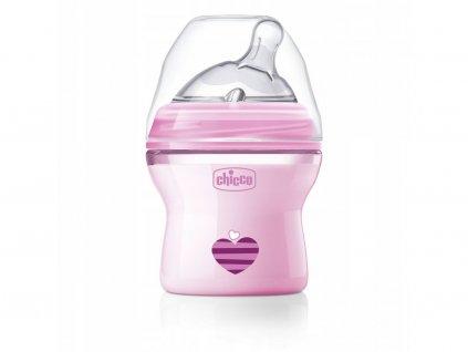 Láhev kojenecká CHICCO Natural Feeling 150 ml, dívka 0m +