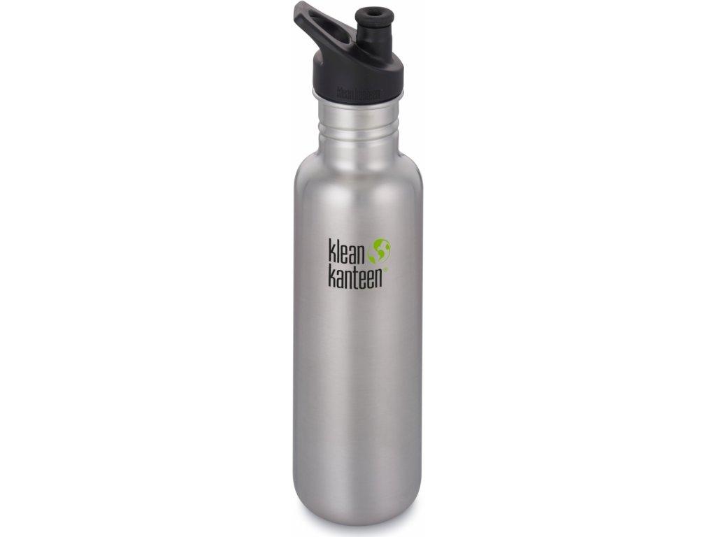 klean kanteen nerezová fľaša strieborná 800ml
