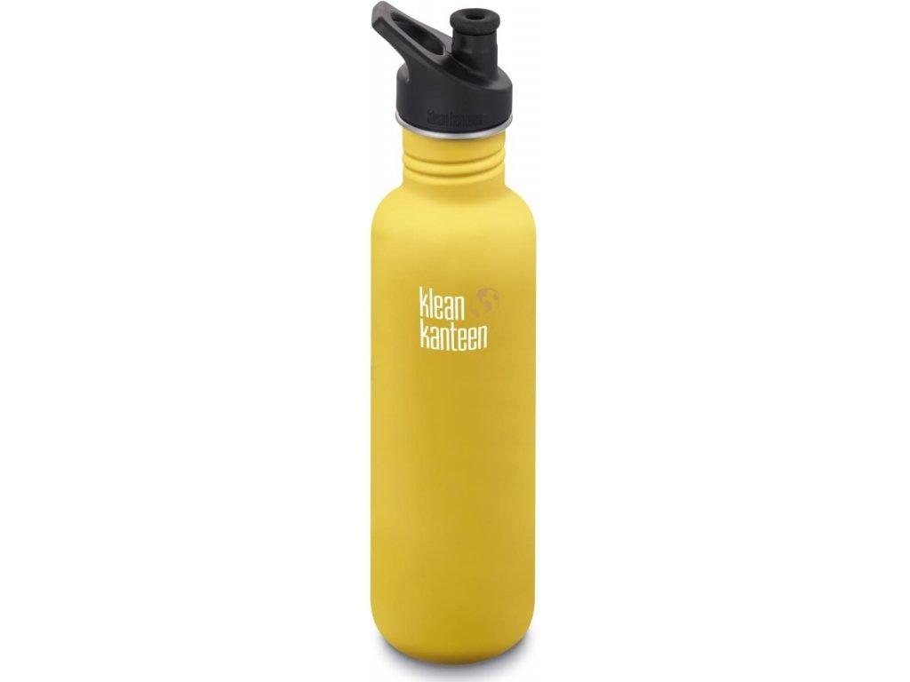 Klean Kanteen Classic w/Sport Cap 3.0 nerezová fľaša - lemon curry 800 ml