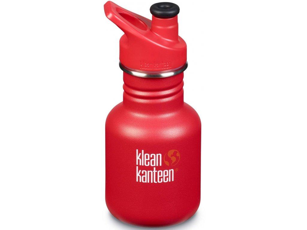 Nerezová detská fľaša do školy Klean Kanteen Kid Classic w/Kid Sport Cap 3.0 - ladder truck matte 355 ml
