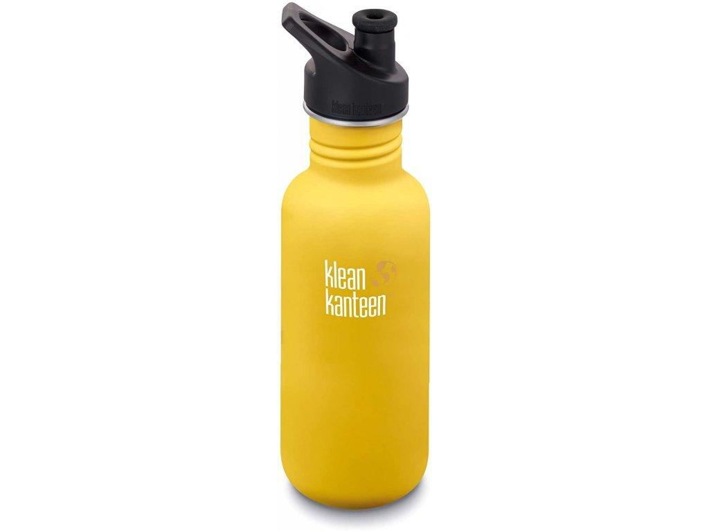 Klean Kanteen Classic w/Sport Cap 3.0 nerezová fľaša - lemon curry 532 ml