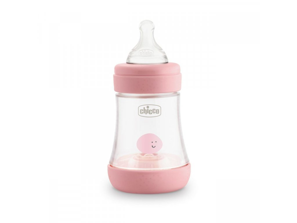Dojčenská fľaša CHICCO Perfect 5 silikón, 150 ml dievča