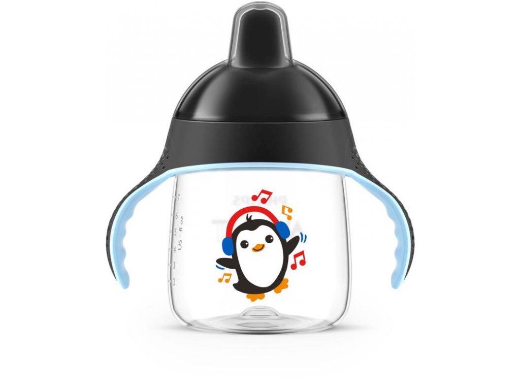 avent premium učiaci hrnček s držadlami 200ml tučniak čierny