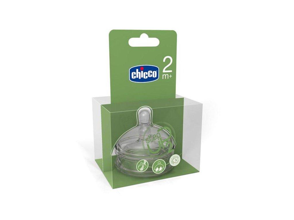 Cumeľ na fľaše CHICCO Step Up 2, 2m+, regulovateľný prietok, 2ks
