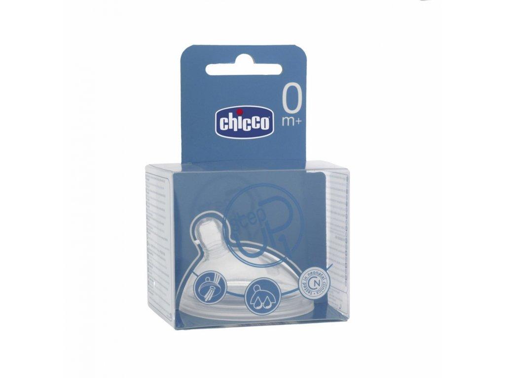Cumeľ na fľaše CHICCO Step Up 1, 0 m+, stredný prietok, 1 ks