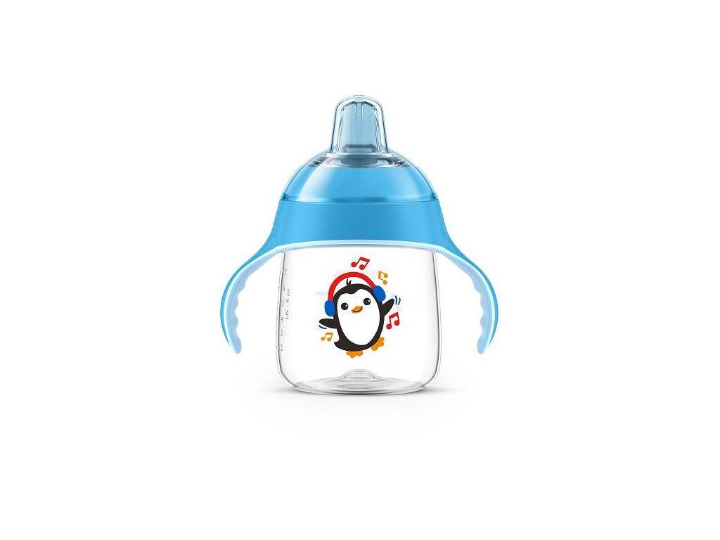 učiaci hrnček philips avent premium 200ml modrý tučniak