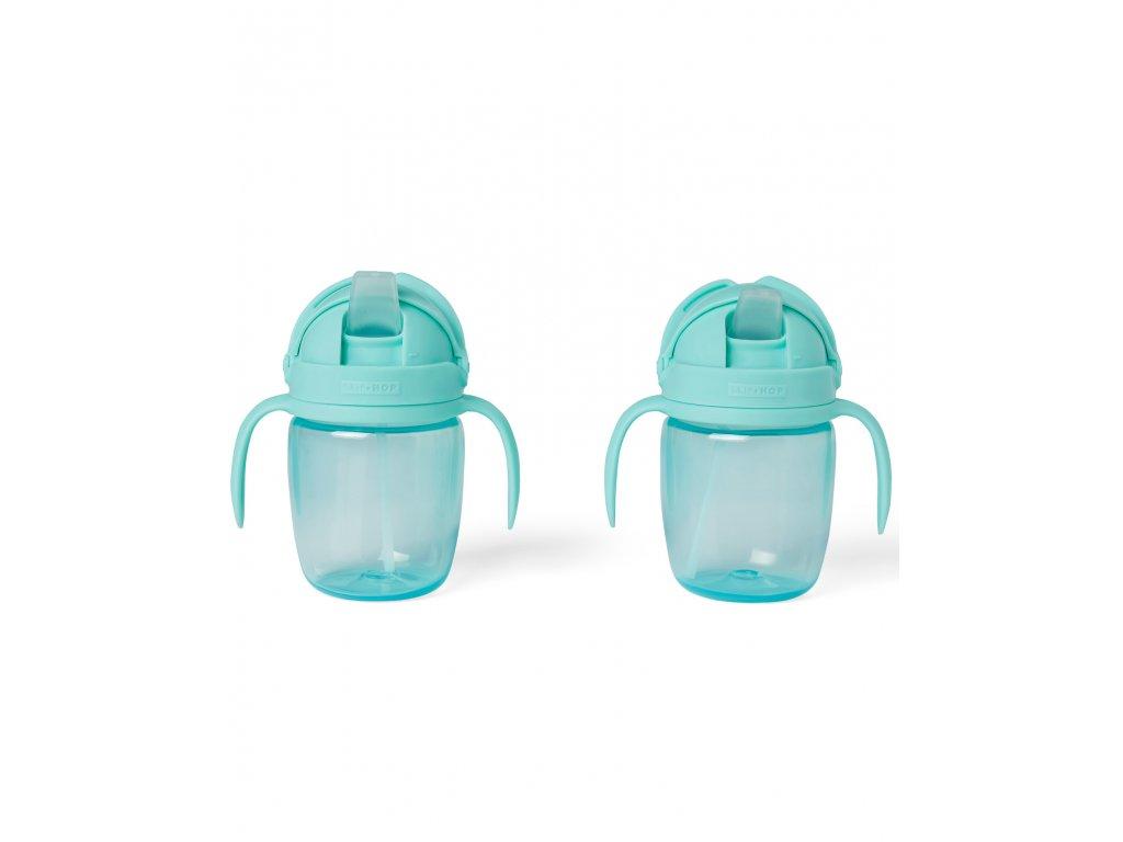 Detský rastúci hrnček SKIP HOP - Sip to Straw Teal