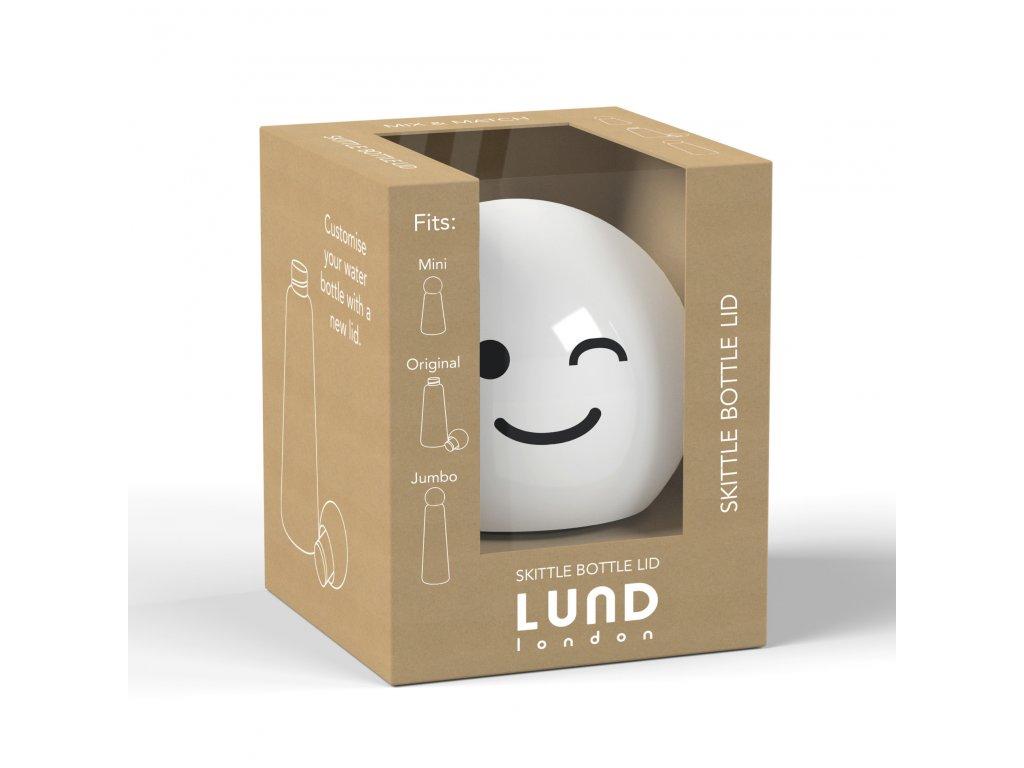 Vrchnák na termo fľašu LUND LONDON Skittle Bottle Lid - White Wink