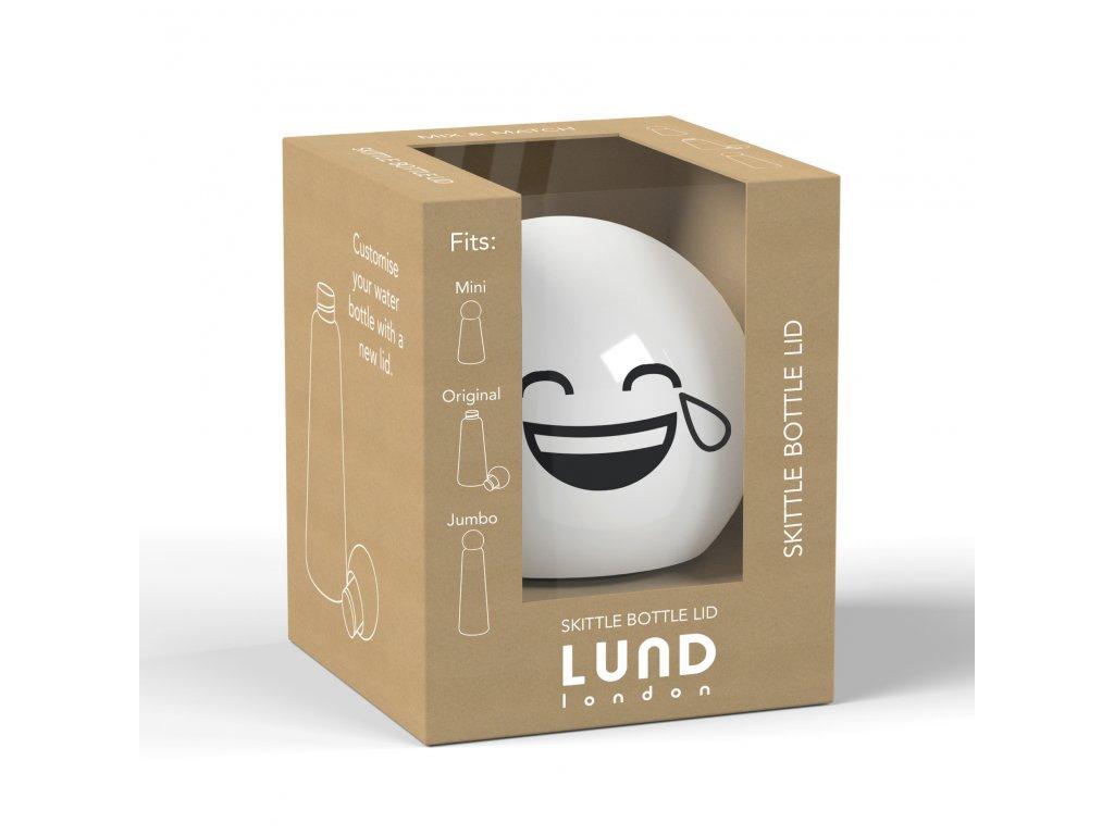 Vrchnák na termo fľašu LUND LONDON Skittle Bottle Lid - White Laugh