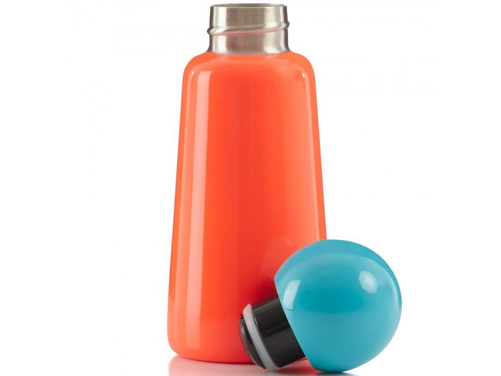 Termo fľaša do školy LUND LONDON Skittle Bottle Mini 300ml Coral and Sky Blue
