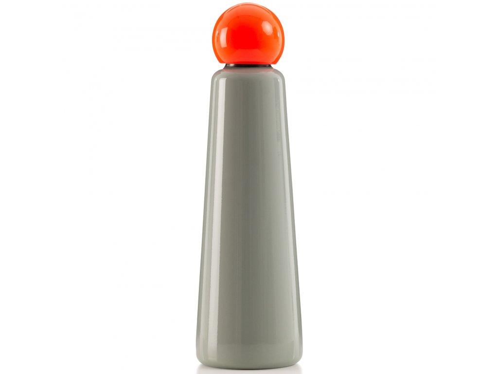 Termo fľaša do školy LUND LONDON Skittle Bottle Jumbo 750ml Light Grey & Coral