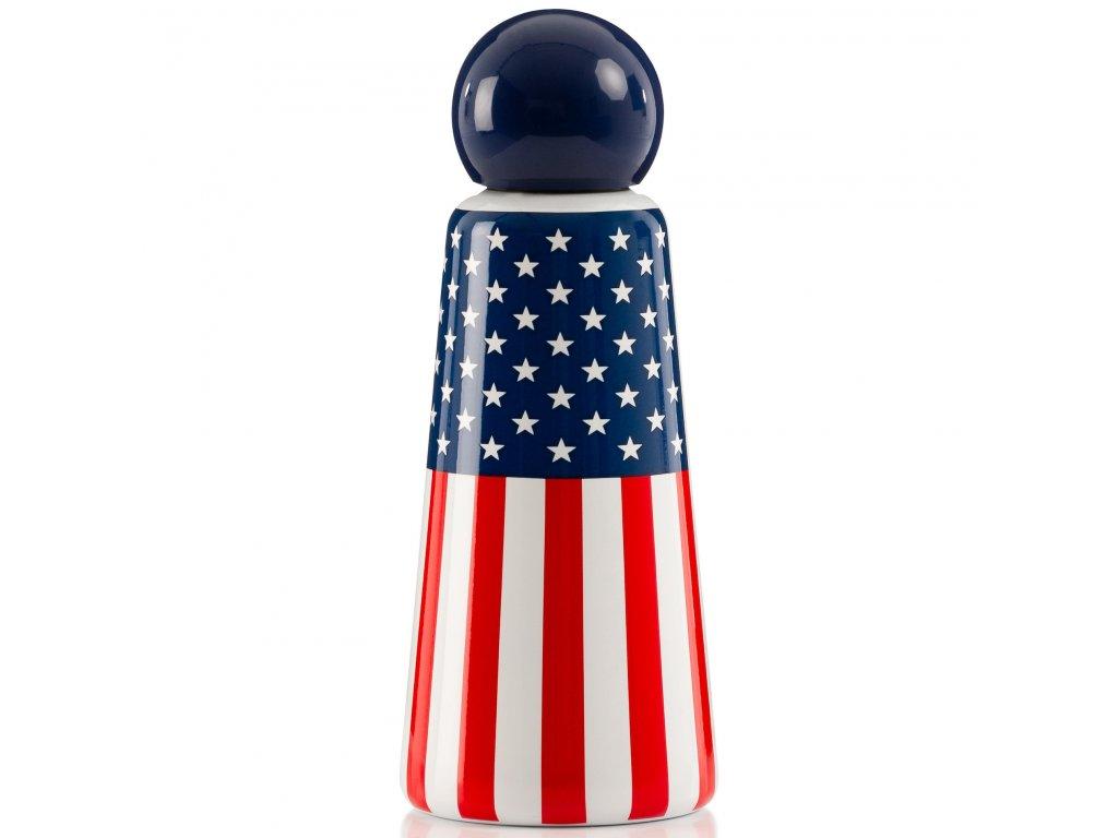 Termo fľaša do školy LUND LONDON Skittle Bottle Original 500ml - USA Flag
