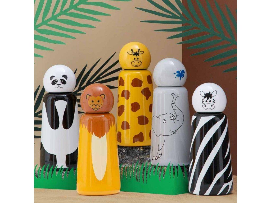 Termo fľaša do školy LUND LONDON Skittle Bottle Mini 300ml - Panda