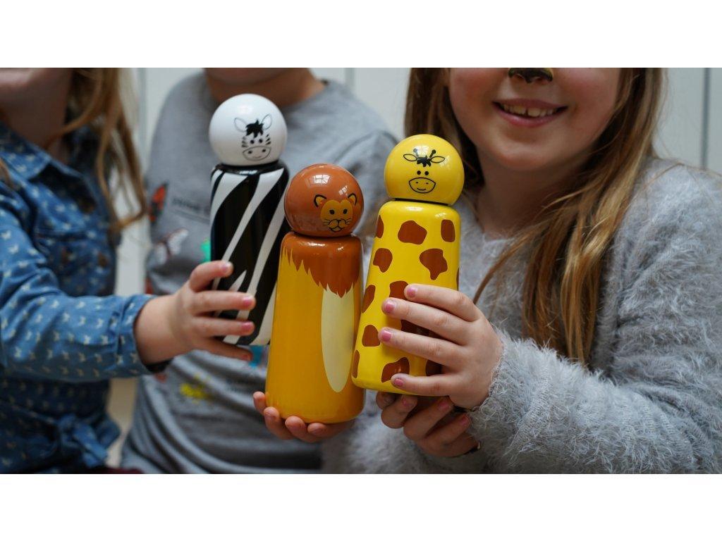 Termo fľaša LUND LONDON Skittle Bottle Mini 300ml - Zebra