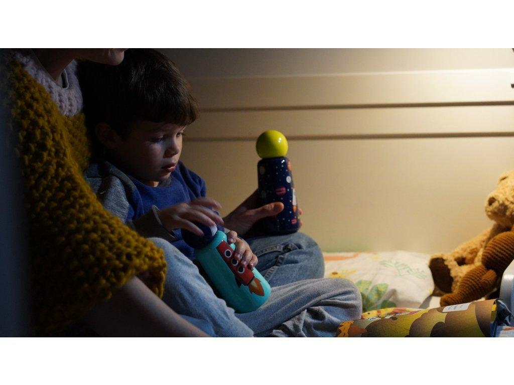 Termo fľaša do školy LUND LONDON Skittle Bottle Mini 300ml - Rocket