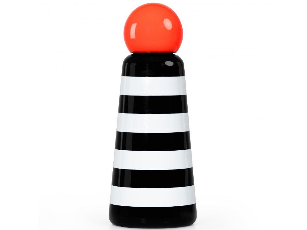 Termo fľaša LUND LONDON Skittle Bottle Original 500ml - Stripes & Coral