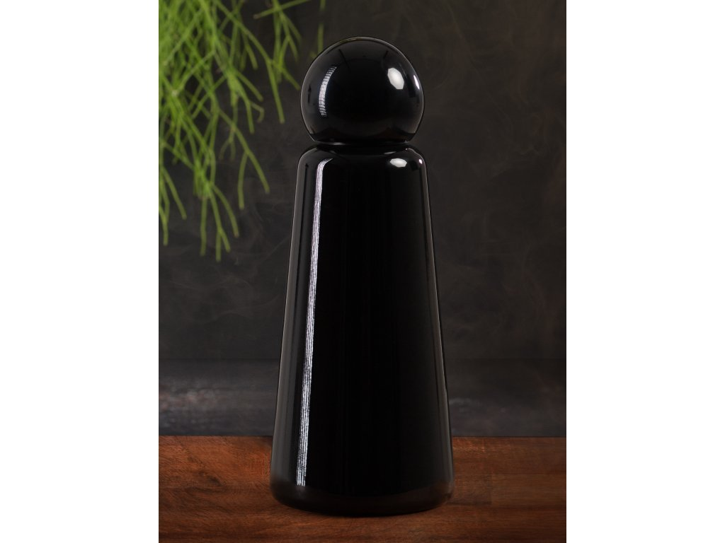 Termo fľaša do školy LUND LONDON Skittle Bottle Original 500ml - Midnight Black
