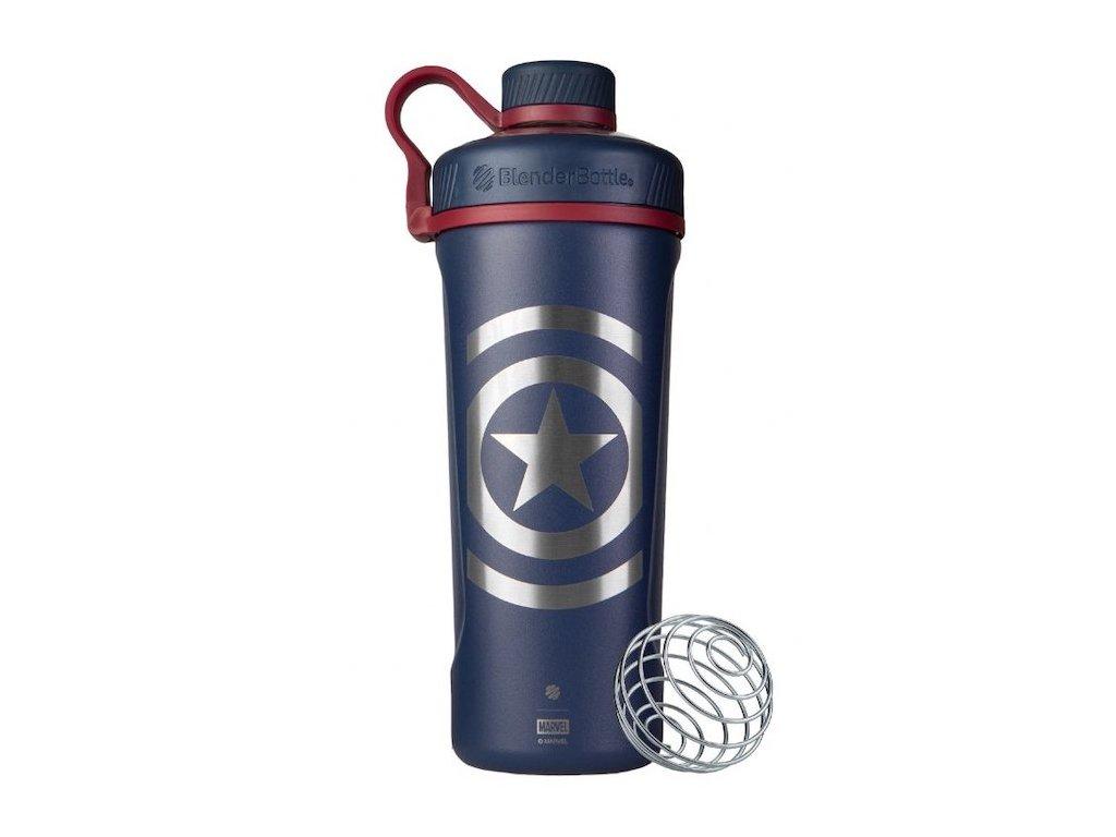 Nerezová termo fľaša BlenderBottle Marvel® - Radian™ Insulated Stainless Steel - Captain America 770 ml